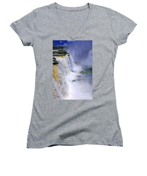 Iguazu Falls IIi Women's V-Neck T-Shirt