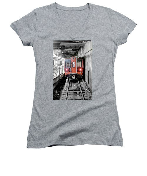 I'm Leaving On A Train Women's V-Neck