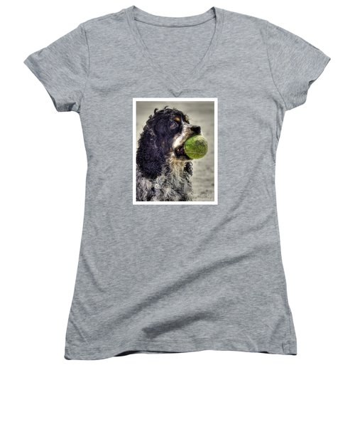I'm Ready To Play Women's V-Neck T-Shirt (Junior Cut) by Benanne Stiens
