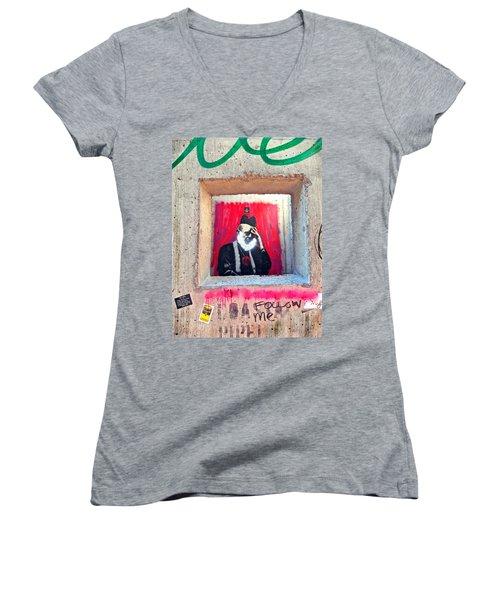 I'm Thinking Women's V-Neck T-Shirt (Junior Cut) by Joan Reese