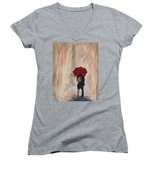 I'm Yours Women's V-Neck T-Shirt (Junior Cut) by Leslie Allen