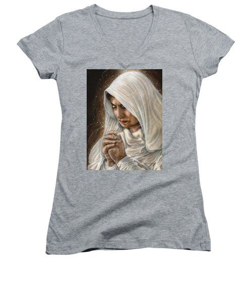 Immaculate Conception - Mothers Joy Women's V-Neck T-Shirt