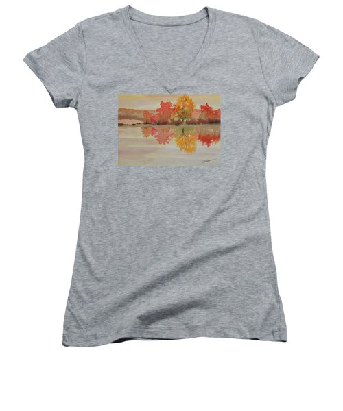 Impressions Of Fall Women's V-Neck (Athletic Fit)