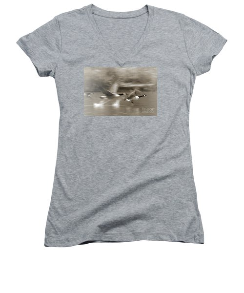 In A Blur Of Feathers Women's V-Neck