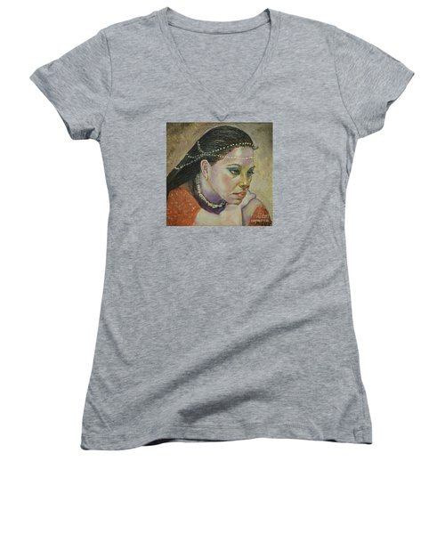 In Her Thoughts Women's V-Neck