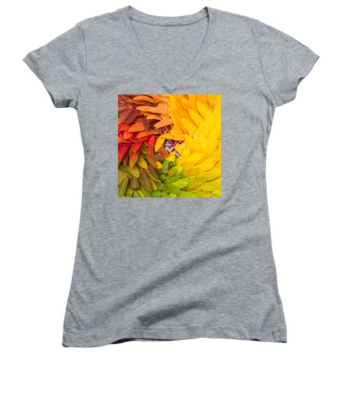 In Living Color Women's V-Neck T-Shirt (Junior Cut) by Aaron Aldrich