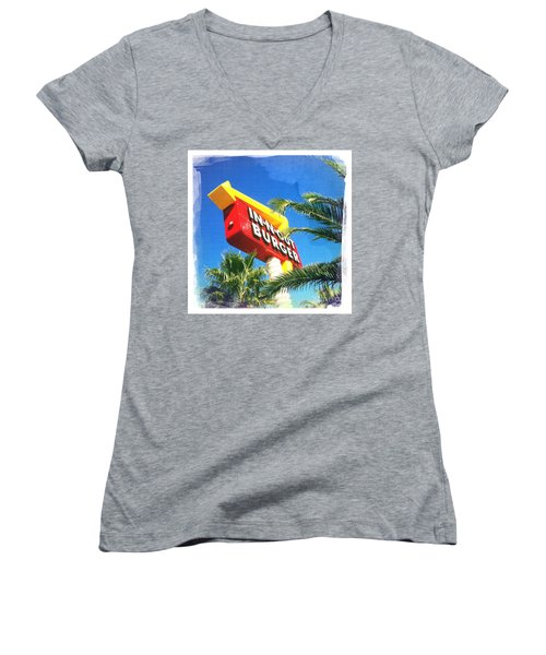 In-n-out Burger Women's V-Neck T-Shirt