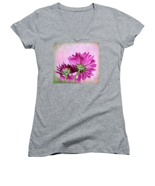 In Reverse Women's V-Neck T-Shirt (Junior Cut) by Judy Vincent