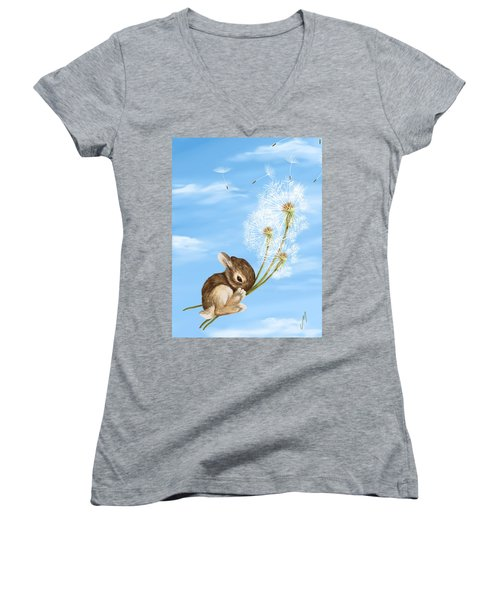 In The Air Women's V-Neck T-Shirt