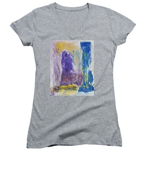 In The Catacombs Of Paris Women's V-Neck T-Shirt