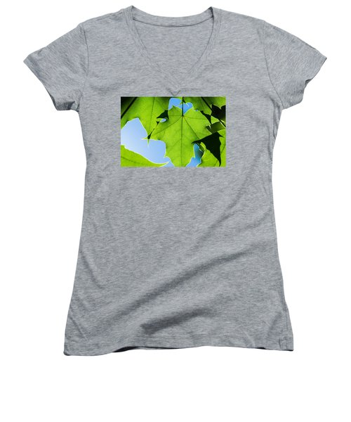 In The Cooling Shade - Featured 3 Women's V-Neck T-Shirt (Junior Cut) by Alexander Senin