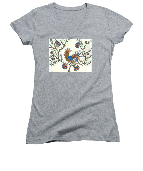 In The Garden - Barnyard Style Women's V-Neck T-Shirt (Junior Cut) by Susie WEBER