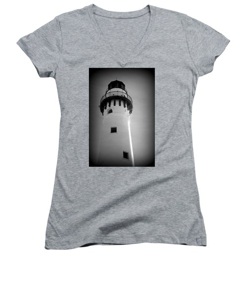 In The Village Of Wind Point Women's V-Neck T-Shirt (Junior Cut) by Kay Novy