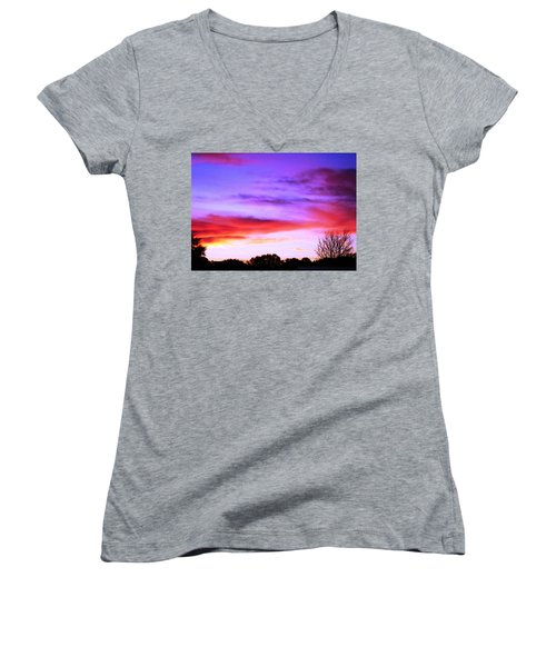 Indian Morning Sky Women's V-Neck (Athletic Fit)