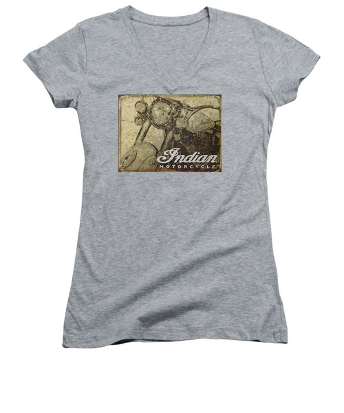 Indian Motorcycle Poster Women's V-Neck