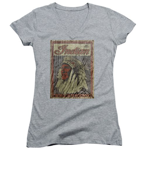Indian Motorcycle Postertextured Women's V-Neck