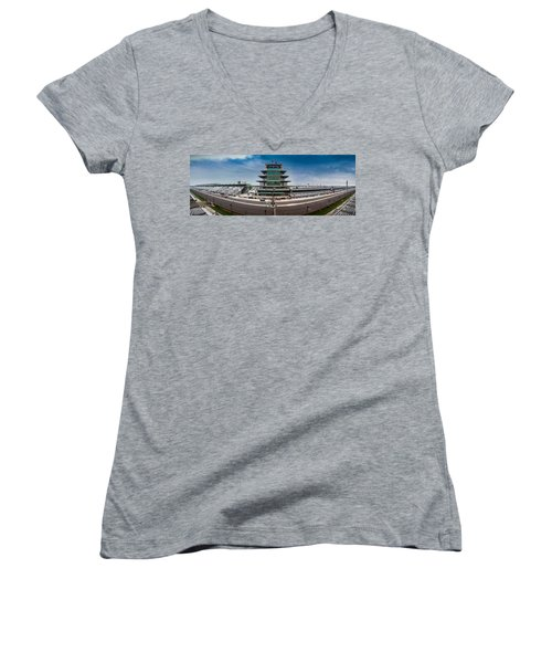 Indianapolis Motor Speedway Women's V-Neck T-Shirt