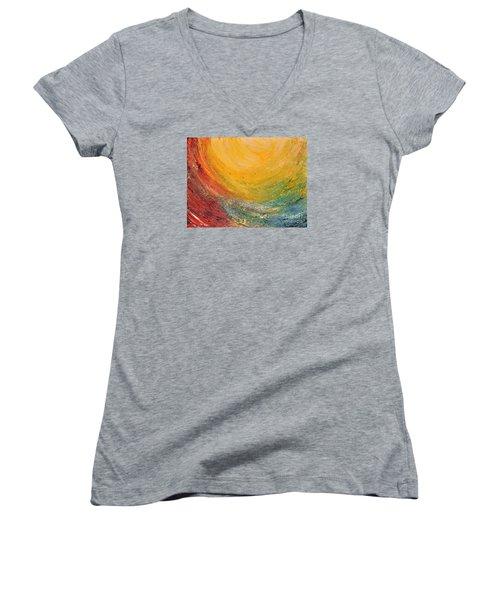Infinity Women's V-Neck T-Shirt (Junior Cut) by Teresa Wegrzyn