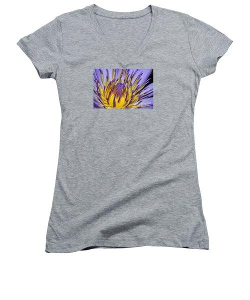 Women's V-Neck T-Shirt (Junior Cut) featuring the photograph Inner Sanctum by Judy Whitton