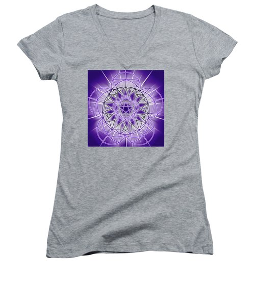 In'phi'nity Star-map Women's V-Neck T-Shirt (Junior Cut) by Derek Gedney