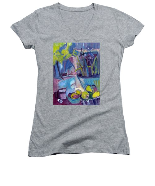 Inside And Outside Abstract Expressionism Women's V-Neck T-Shirt