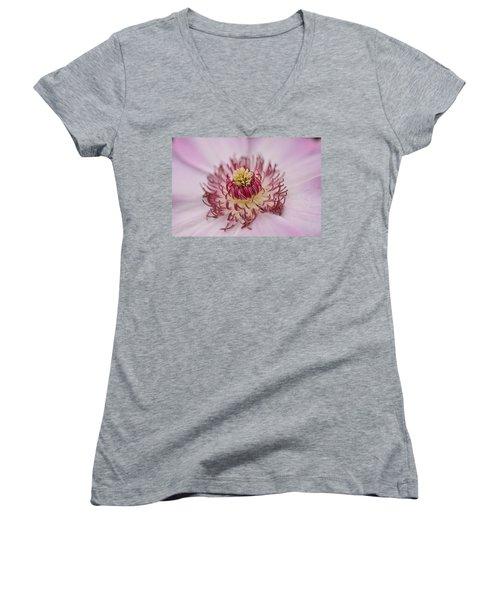 Inside The Flower Women's V-Neck T-Shirt (Junior Cut)