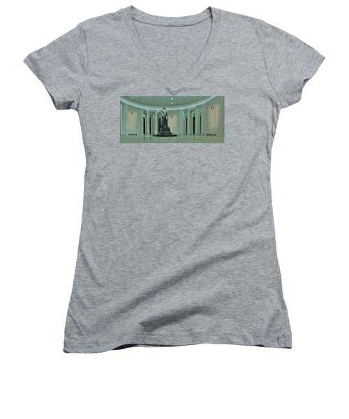 Inside The Jefferson Memorial Women's V-Neck