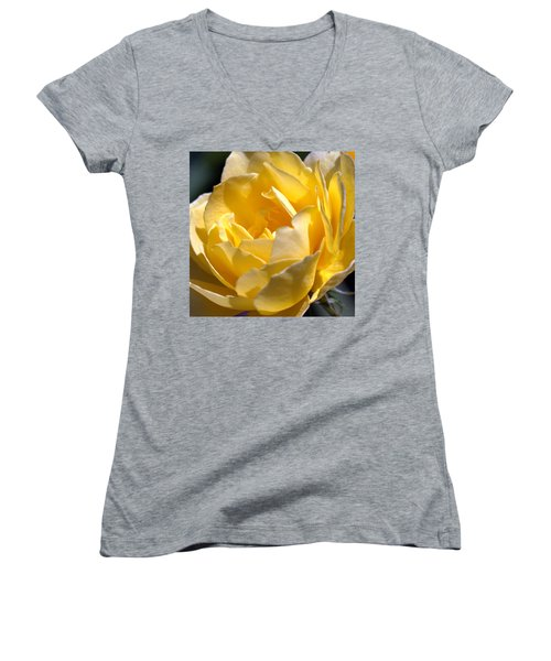 Inside The Yellow Rose Women's V-Neck