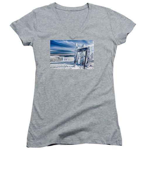 Inspiration Women's V-Neck T-Shirt (Junior Cut) by Aaron Aldrich