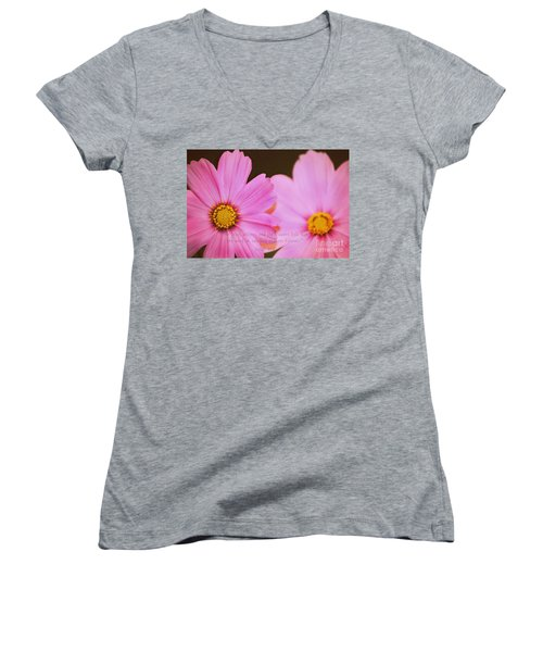 Inspirational Flower 2 Women's V-Neck T-Shirt (Junior Cut) by Eric Liller