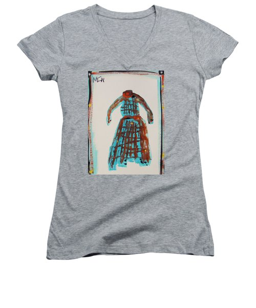Inspired By Vuillard Women's V-Neck T-Shirt (Junior Cut) by Mary Carol Williams