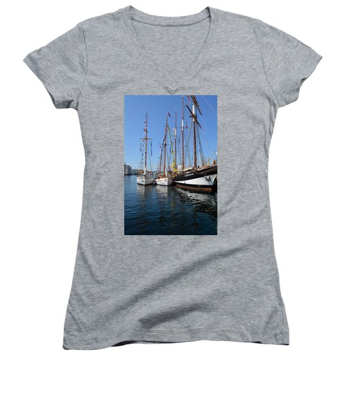 International Sailing Festival In Bergen Norway 2 Women's V-Neck (Athletic Fit)
