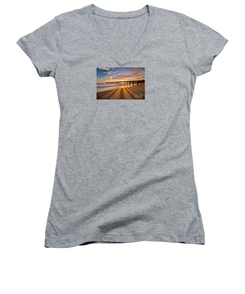 Into The Light Women's V-Neck T-Shirt (Junior Cut) by Alice Cahill