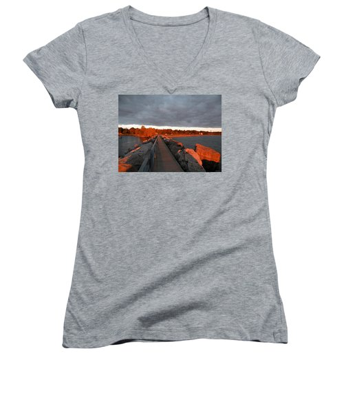 Into The Sun Women's V-Neck (Athletic Fit)