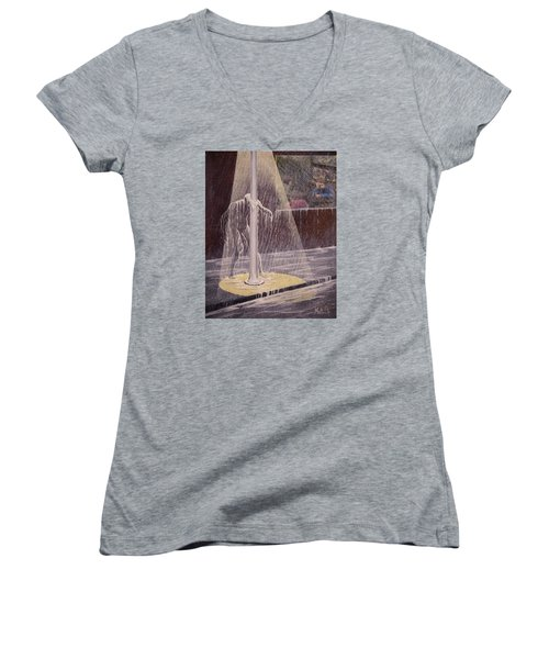 Invisible Man Women's V-Neck T-Shirt (Junior Cut) by Jack Malloch