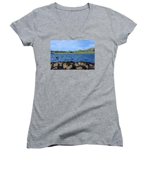 Iona Abbey Isle Of Iona Women's V-Neck T-Shirt