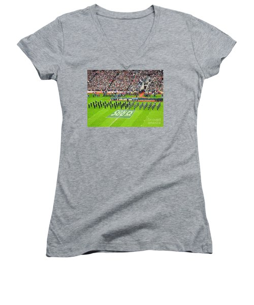 Women's V-Neck T-Shirt (Junior Cut) featuring the photograph Ireland Vs France by Suzanne Oesterling