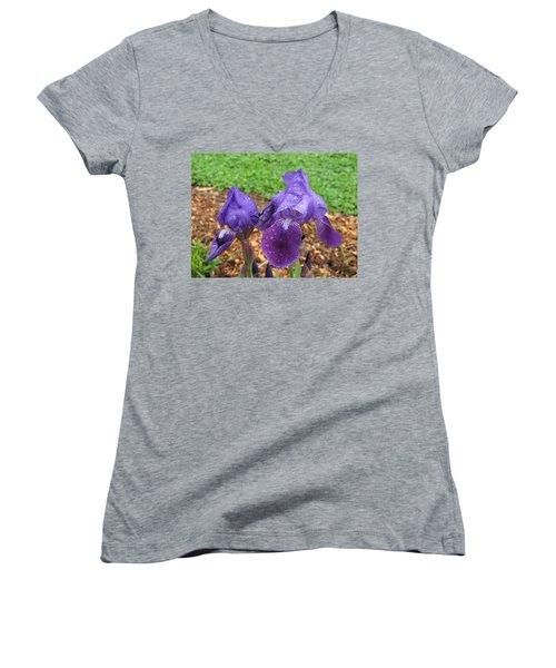 Iris After Rain Women's V-Neck T-Shirt
