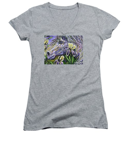 Iris Upon A Star Women's V-Neck (Athletic Fit)