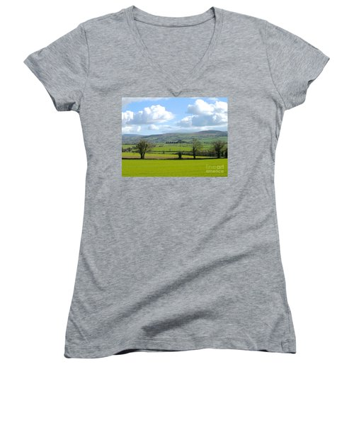 Women's V-Neck T-Shirt (Junior Cut) featuring the photograph Irish Spring by Suzanne Oesterling