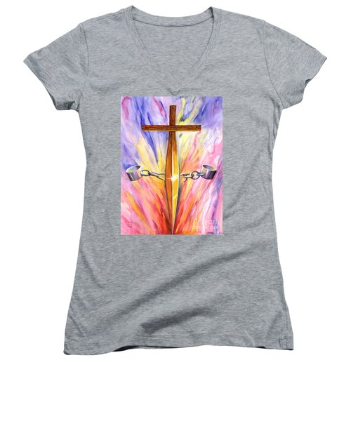 Isaiah 61 Women's V-Neck (Athletic Fit)