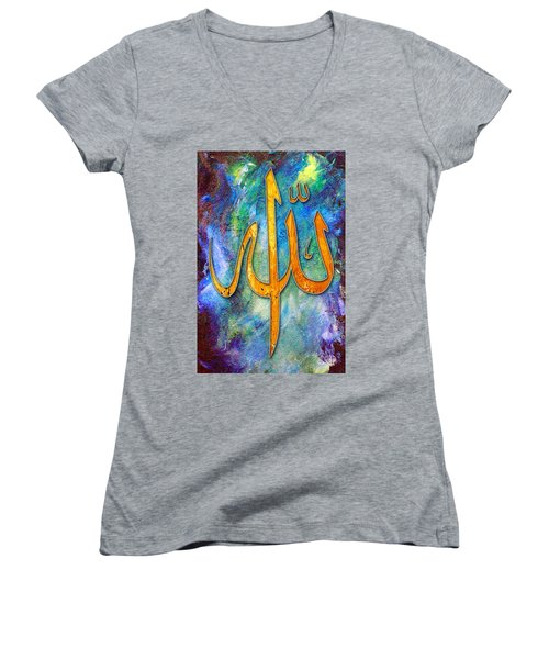 Islamic Caligraphy 001 Women's V-Neck (Athletic Fit)
