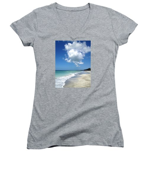 Women's V-Neck T-Shirt (Junior Cut) featuring the photograph Island Escape  by Margie Amberge