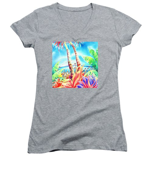 Island Of Music Women's V-Neck (Athletic Fit)