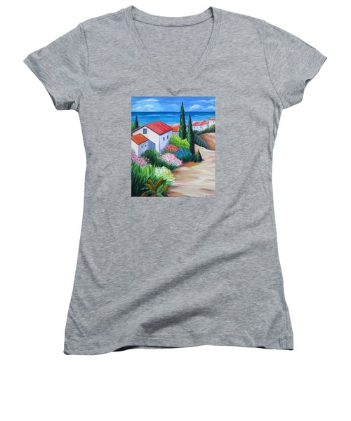 Island Paradise Women's V-Neck T-Shirt