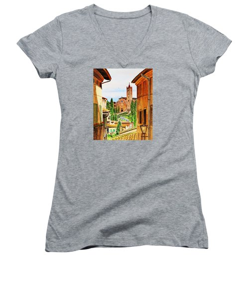 Italy Siena Women's V-Neck