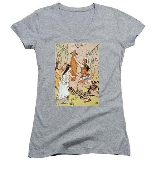 Jason Seizing The Golden Fleece Women's V-Neck T-Shirt