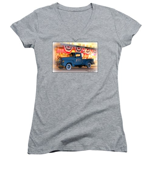 Jefferson General Store 51 Chevy Pickup Women's V-Neck T-Shirt