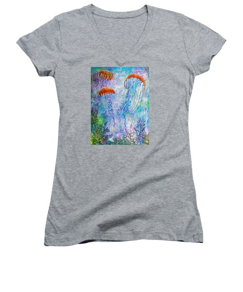 Jellies Women's V-Neck T-Shirt (Junior Cut) by Janet Immordino