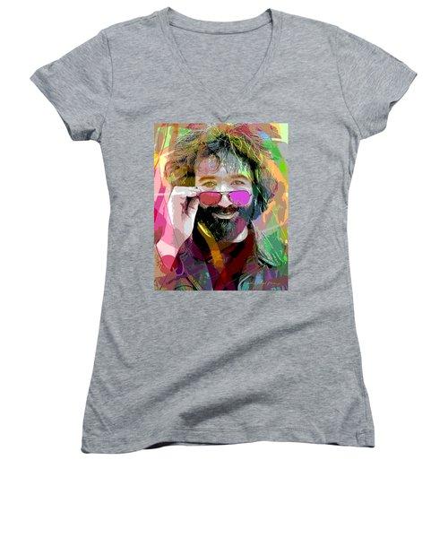 Jerry Garcia Art Women's V-Neck